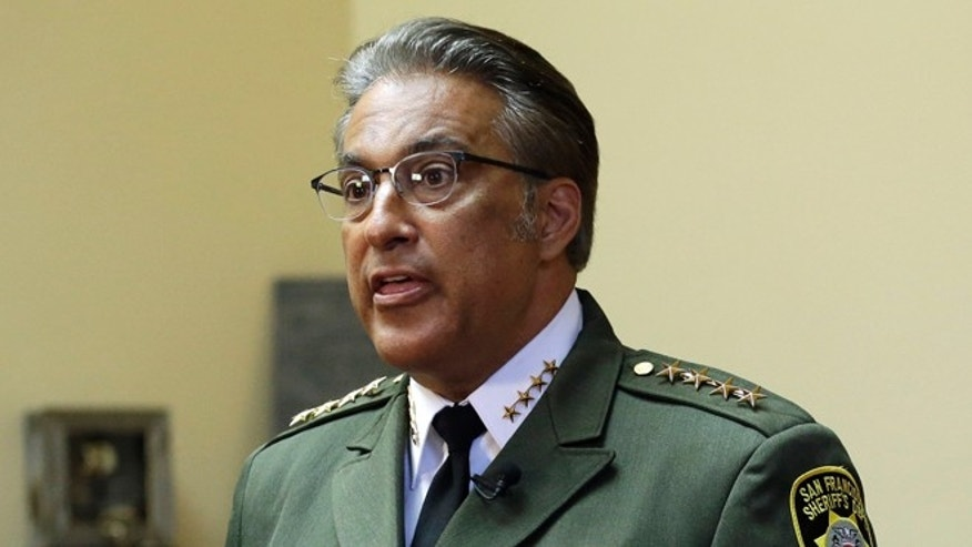 San Francisco Sheriff Ross Mirkarimi speaks during an interview Monday, July 6, 2015, in San Francisco. Mirkarimi has defended the release of Francisco Sanchez from jail on April 15, who is now accused in the shooting death of a woman at a popular tourist site. (AP Photo/Ben Margot)