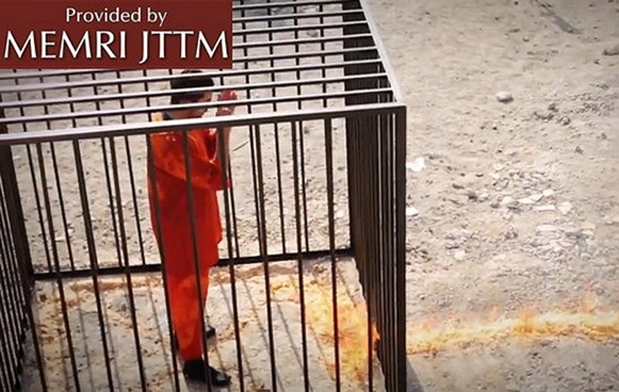 The reports of 5 women and their sons being burned alive by ISIS is similar to the execution of Jordanian fighter pilot Muath al-Kasasbeh.