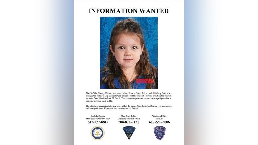 Computer-generated composite image depicting the possible likeness of 'Baby Doe.'