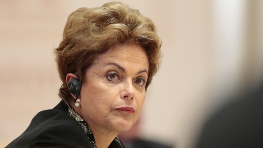 Brazil's President Dilma Rousseff listens during the BRICS summit in Ufa, Russia, Thursday, July 9, 2015. Ufa hosts SCO (Shanghai Cooperation Organization) and BRICS (Brazil, Russia, India, China and South Africa) summits. (AP Photo/Ivan Sekretarev, pool)