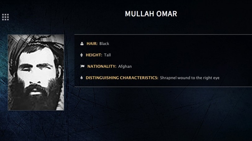 "In this image released by the FBI, Mullah Omar is seen in a wanted poster. The reclusive Afghan Taliban leader has backed peace talks with the Kabul government, saying in a rare message distributed to media Wednesday, July 15, 2015 that the goal of these efforts is an ""end to occupation"" by foreign forces. (FBI via AP)"