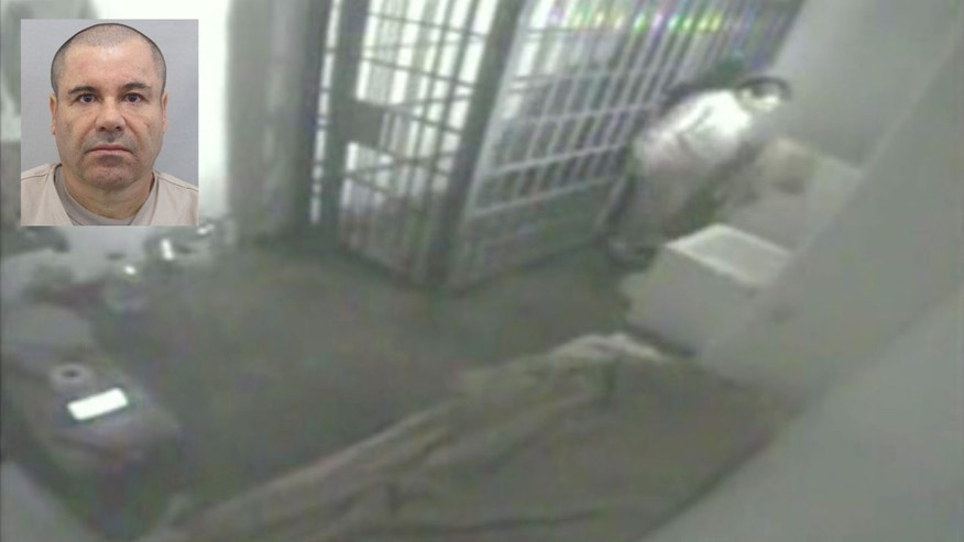 "This screen grab of video from a security camera, dated July 11, 2015 and released by Mexico's National Security Commission, shows the man Mexican authorities say is Joaquin ""El Chapo"" Guzman inside his prison cell at the Altiplano maximum security prison, looking at the shower floor shortly before escaping through a tunnel below in Almoloya, Mexico. Guzman, the leader of the Sinaloa cartel, made his second escape from a Mexican maximum-security lockup on Saturday. His latest capture was on Feb. 22, 2014. (Mexico's National Security Commission via AP)"
