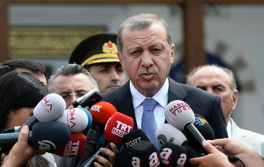 July 24, 2015 - Turkish President Recep Tayyip Erdogan at a mosque in Istanbul, Turkey. In a major tactical shift, Turkish warplanes struck ISIS targets Friday across the border in Syria, Turkish officials announced.