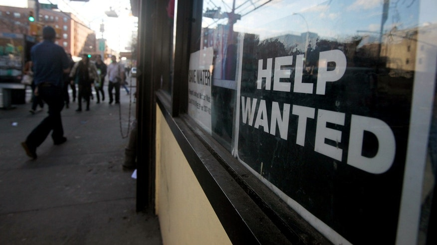NEW YORK - MARCH 09:  A 'help wanted' sign is seen in the window of a laundromat March 9, 2010 in New York City. United States job openings increased in January by 193,000 to 2.72 million, the highest level in almost a year, in a signal that economic recovery is continuing. (Photo by Mario Tama/Getty Images)