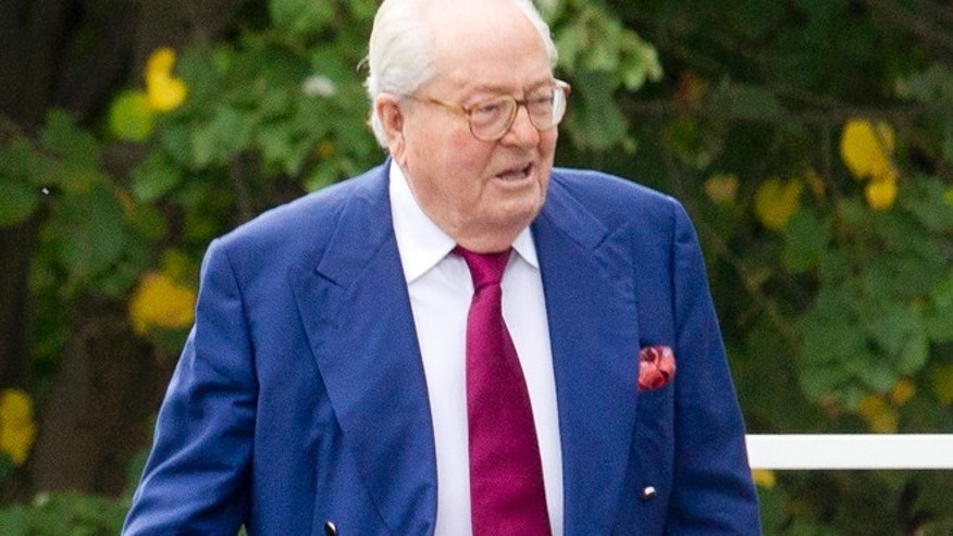 Aug. 20: Jean-Marie le Pen, former head of far-right party National Front, arrives at the party headquarters in Nanterre, outside Paris.