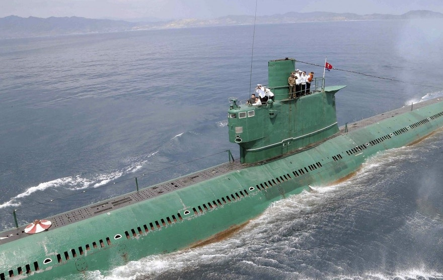 Some 50 of North Korea's 77 submarines were on the move as of Tuesday, but it was not clear whether they were headed back to port. (Reuters)