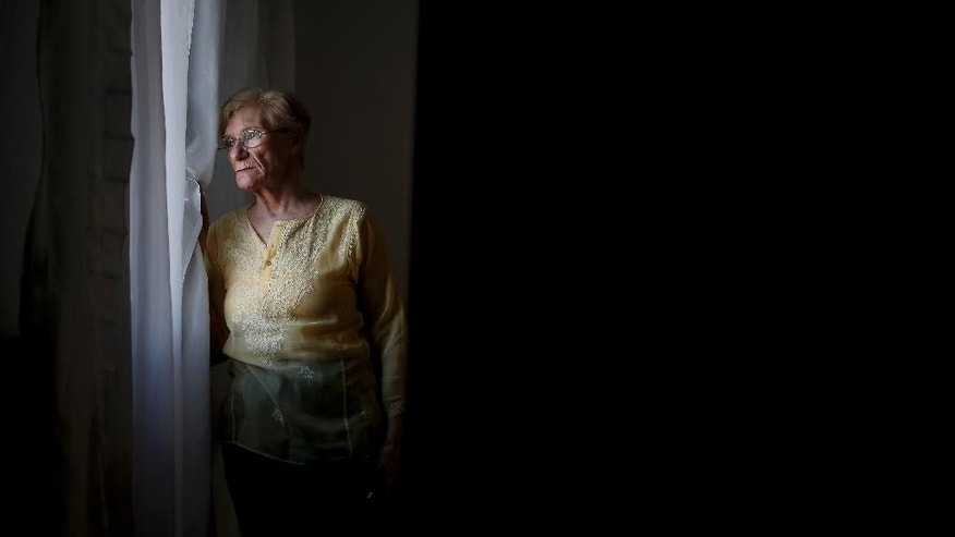 In this Aug, 22, 2015 photo, Lidia Guerrero, mother of death row inmate Victor Saldano, poses for a portrait at her home in Cordoba, Argentina. Guerrero's son has been on death row in Texas for 19 years for killing a computer salesman outside Dallas. Guerrero says her son is guilty of murder but has been driven to insanity on death row. The's execution date has not been scheduled. (AP Photo/ Nico Aguilera)