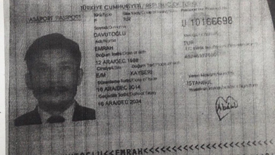 """This image released by the Royal Thai Police on Wednesday, Sept. 2, 2015, shows Emrah Davutoglu from Turkey, who police said faces """"charges of conspiracy to possess unauthorized war materials"""". Thai police have issued an arrest warrant for a Turkish man who is the husband of a Thai suspect already being sought for possible links to Bangkok's Erawan Shrine bombing. (Royal Thai Police via AP)"""