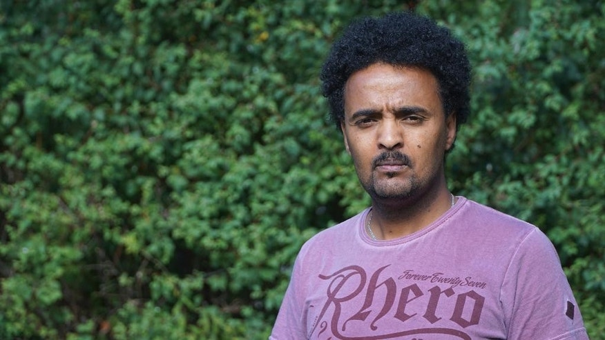 Eritrean refugee Adal, who has requested we withhold his family name, in this photo taken Aug. 21, 2015, in Stockholm, Sweden, who has now gained Swedish citizenship. Adal's brother died in the October 3 2013 tragedy in Lampedusa, Italy and faced long delays in having the death of his brother officially confirmed and told the place of his burial. (AP Photo/ David Keyton)
