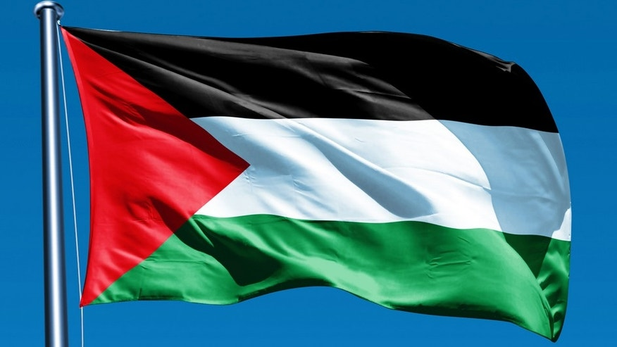 The Palestinian flag could be raised in time for Mahmoud Abbas' visit. (file)