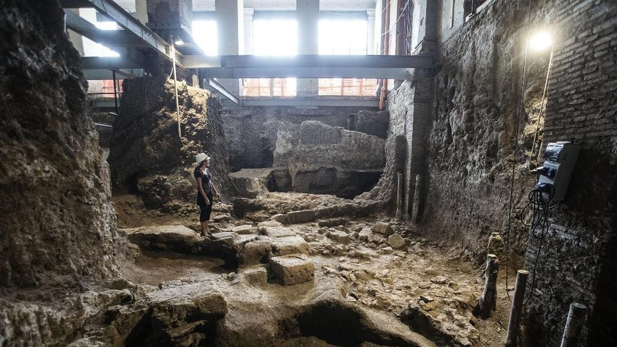Sept. 9, 2015: A view of a 6th-century B.C. residence that was discovered in Rome.