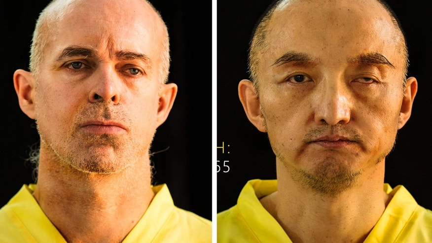 This combination of undated photos taken from the Islamic State group's online magazine Dabiq purports to show Ole Johan Grimsgaard-Ofstad, 48, from Oslo, Norway, left, and Fan Jinghui, 50, from Beijing, China.