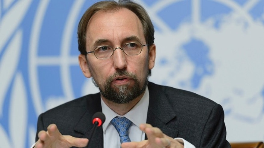 Sept. 16, 2015: UN High Commissioner for Human Rights, Zeid Raad al-Hussein,speaks on the UN Human Rights Office report on Sri Lanka.