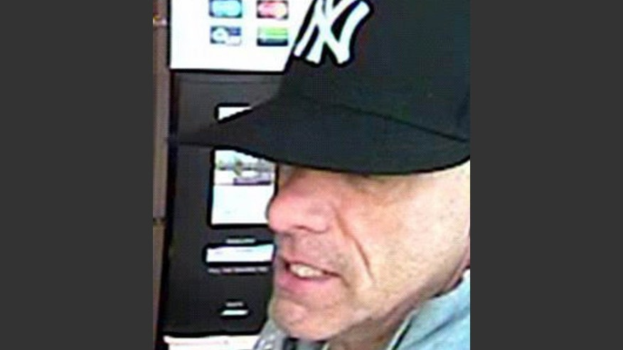 "This undated surveillance photo provided by the York Regional Police shows a bank robbery suspect, not identified by name, but nicknamed ""The Vaulter Bandit."""