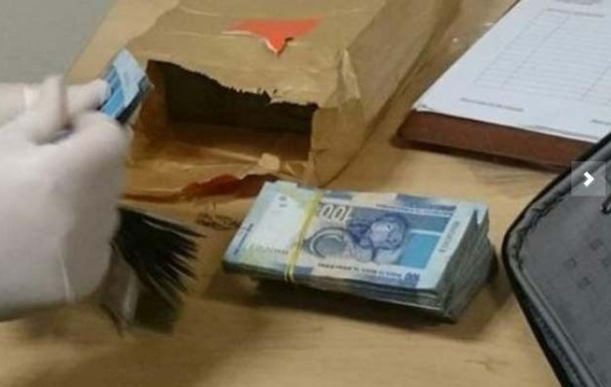 Cash seized at OR Tambo International Airport. (South African Revenue Service)