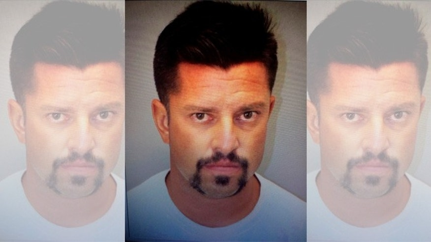 This undated booking photo provided by the Banning, Calif., Police Department shows James Paul Diaz. who was arrested in the shootings deaths of two people in the Southern California desert city of Banning, near Palm Springs on Saturday. (Banning Police Department via AP)