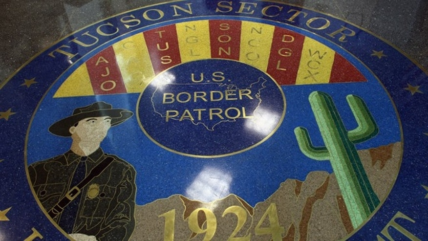 TUCSON, AZ - DECEMBER 07:  A mosaic adorns the floor of the U.S. Border Patrol headquarters on December 7, 2010 in Tucson, Arizona. The Tucson sector of the U.S.- Mexico border is considered the most heavily trafficked by illegal immigrants and drug smugglers in the United States.  (Photo by John Moore/Getty Images)
