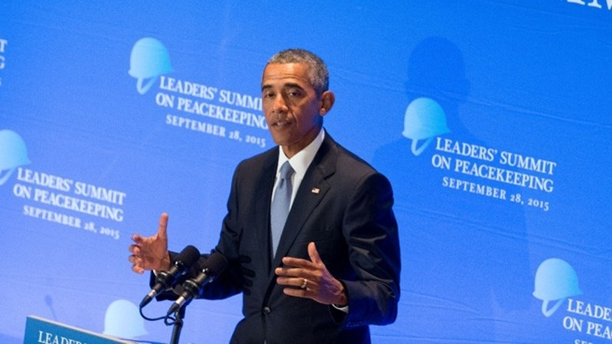 Sept. 28, 2015: President Barack Obama speaks during a United Nations Peacekeeping Summit.