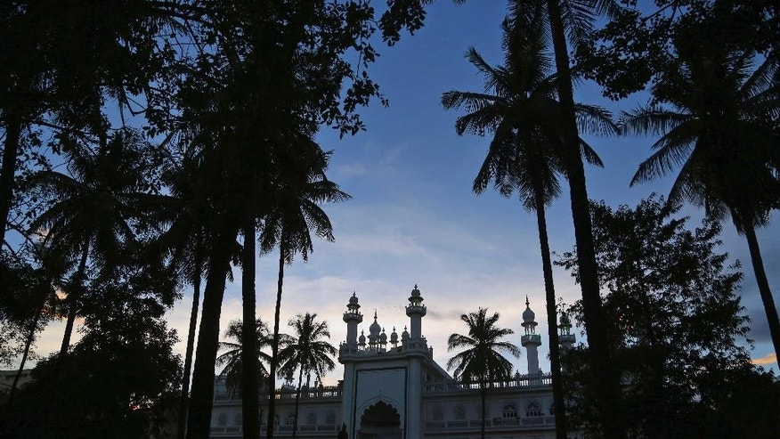 A general view of Jamia Masjid or the Grand Mosque in Bangalore, India, Tuesday, Oct. 6, 2015. The chief cleric of Bangalore's main mosque said Tuesday that he has advised the heads of hundreds of mosques in India's technology hub to actively counter propaganda by extremist Islamic groups by reaching out to young people in colleges and on social media. (AP Photo/Aijaz Rahi)