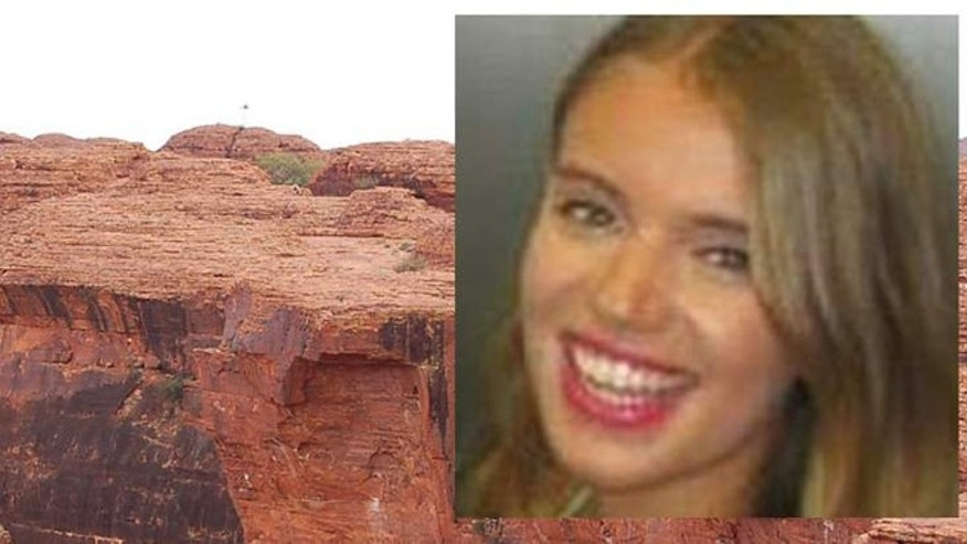 Zoe Woolmer, 23, died while taking a photo at Kings Canyon in Australia.