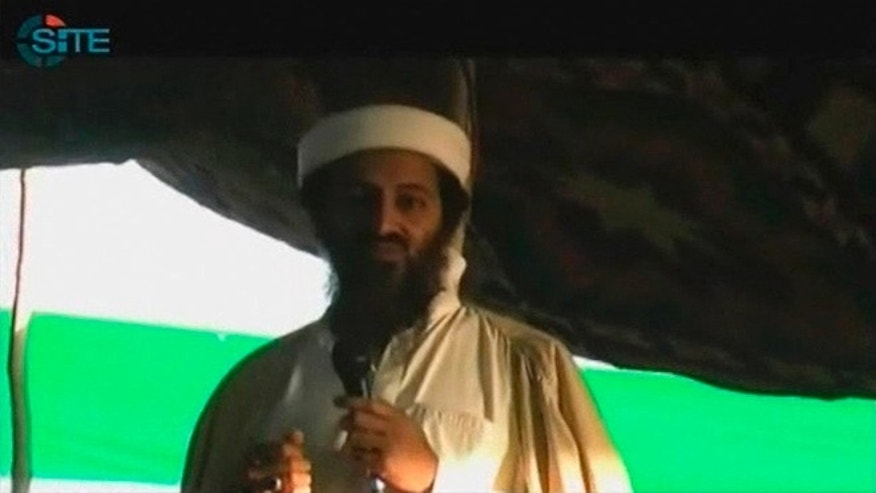 Sept. 12, 2011: Former Al-Qaeda chief Osama bin Laden is seen in this still image taken from a video.