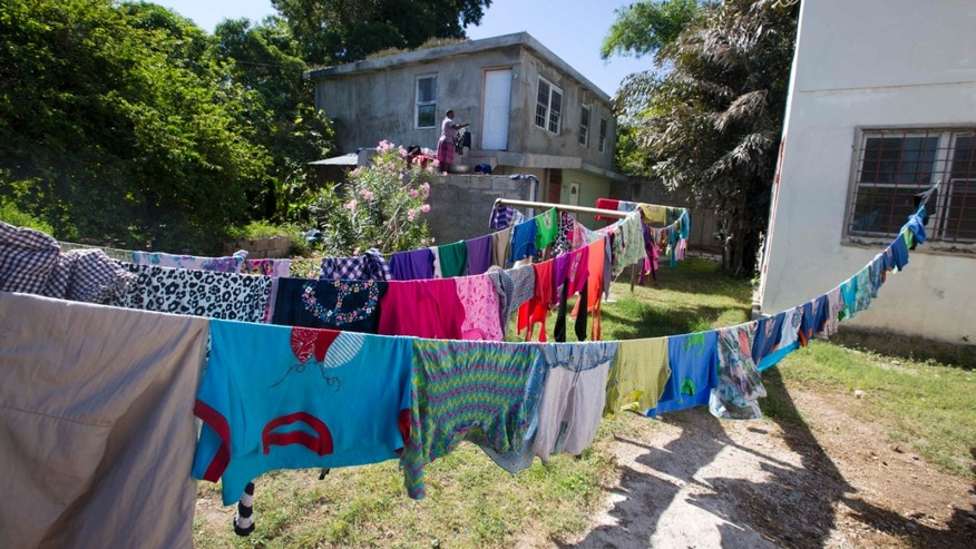 Oct. 14, 2015: Clothes hang out to dry at the Sonlight Children's Home in the Port-au-Prince district Croix-des-Bouquets, Haiti.