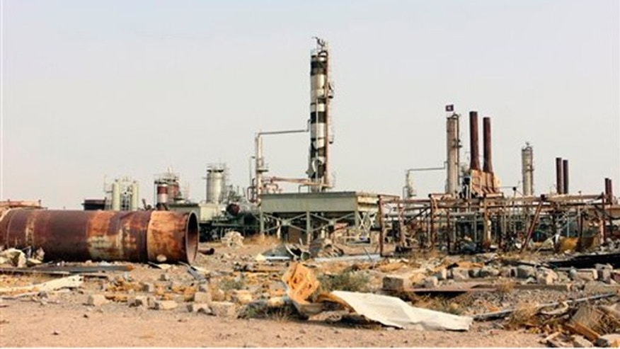 Oct. 22, 2015: Destruction at Beiji oil refinery during the military operations, some155 miles north of Baghdad, Iraq. Coalition officials said that Iraqi security forces continue to work to recapture and clear the western city of Ramadi and the city of Beiji, home to Iraqs largest oil refinery.