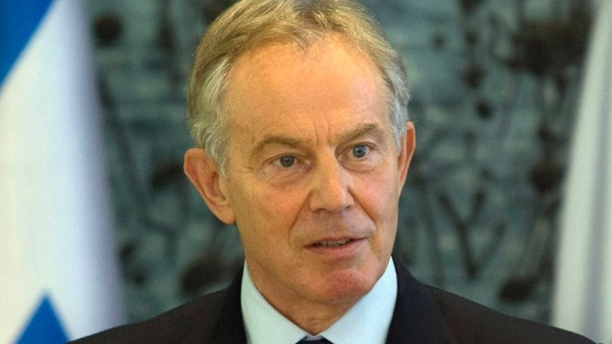 July 15, 2014: Former British Prime Minister and Mideast envoy Tony Blair.