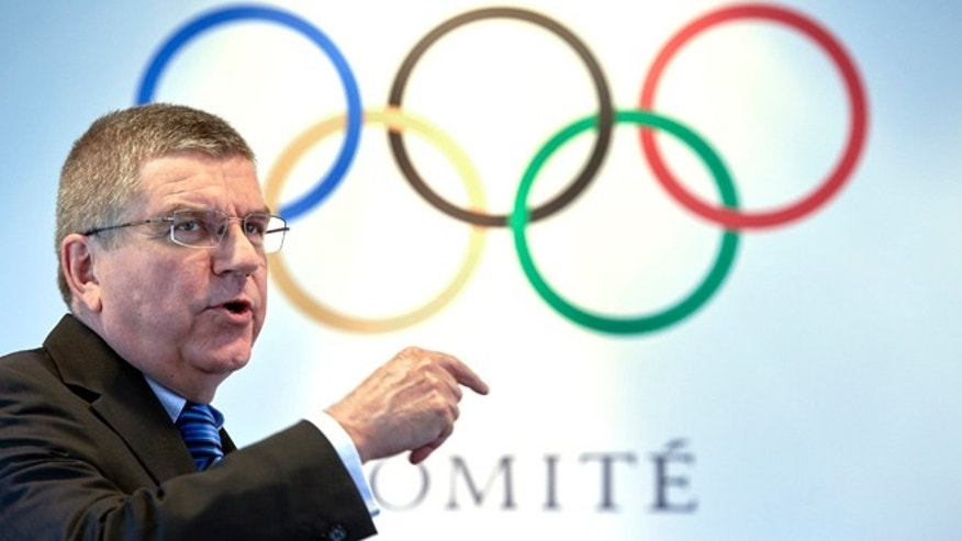 Sept. 16, 2015: International Olympic Committee President Thomas Bach gestures during an interview.