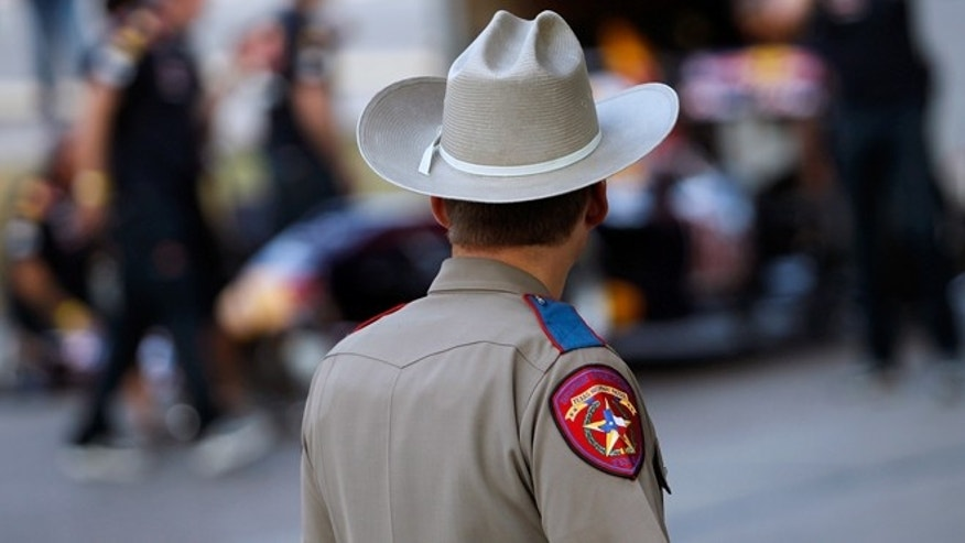AUSTIN, TX - AUGUST 20:  A Texas State Trooper on August 20, 2011 in Austin, Texas. (Photo by Tom Pennington/Getty Images for Red Bull)