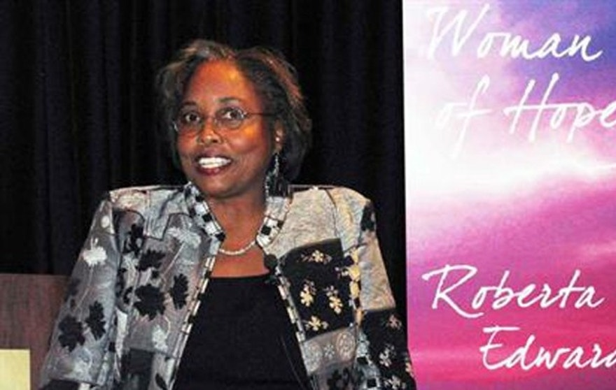 "Edwards was named ""Woman of Hope"" for 2011 at the annual Women of Hope conference in Nashville, Tenn. (Healing Hands International)"