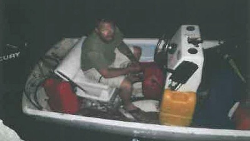 This photo sent to the Monroe County Sheriff's Office from border guards in Cuba shows Shawn Michael Luskey aboard a boat that was taken from Stock Island, Sheriff's Office investigators say. (Photo courtesy of the Monroe County Sheriff's Office)