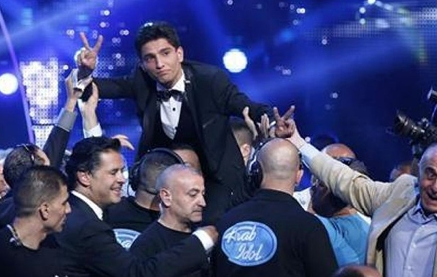 "Muhammed Assaf, a resident of Gaza who won the 2013 ""Arab Idol"" TV show, has a hit song out celebrating the ""martyrs"" who kill Jews. (Reuters)"