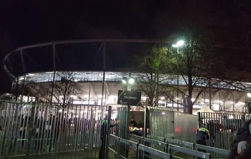 The stadium in Hannover after Tuesday's evacuation.
