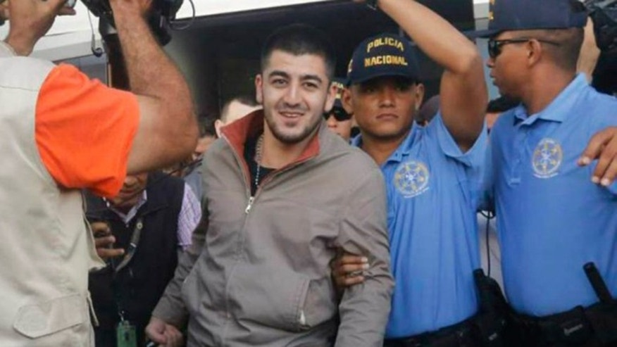 One of the five Syrians arrested in Tegucigalpa, Honduras on Wednesday, Nov. 18, 2015.