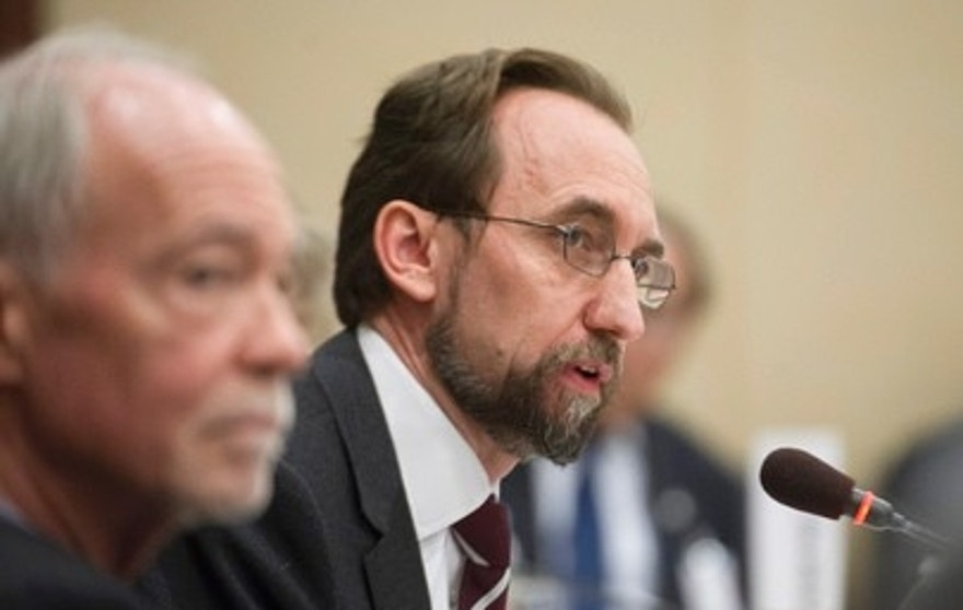 Zeid Ra'ad Al-Hussein, UN High Commissioner for Human Rights, addresses the meeting of the United Nations Chief Executives Board (CEB), hosted by the World Bank in Washington, D.C. (Credit: UN)