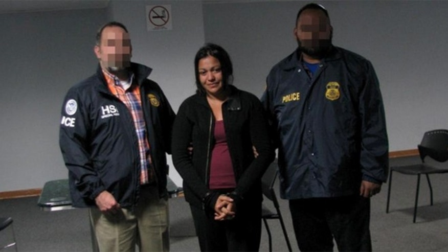 Rosa Astrid Umanzor-López before being extradited to the U.S.