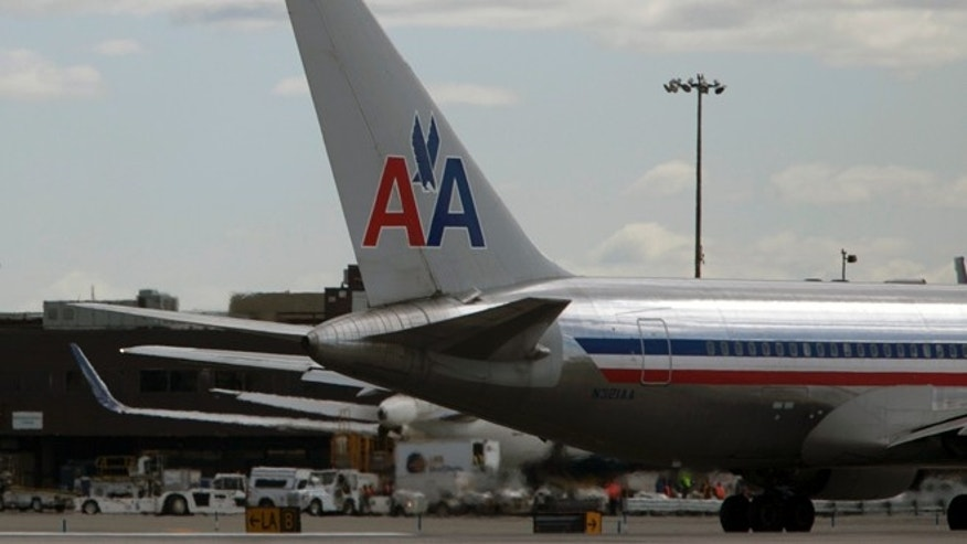NEW YORK, NY - APRIL 27: An American Airlines plane is seen at John F. Kennedy International Airport April 27, 2012 in the Queens borough of New York City.