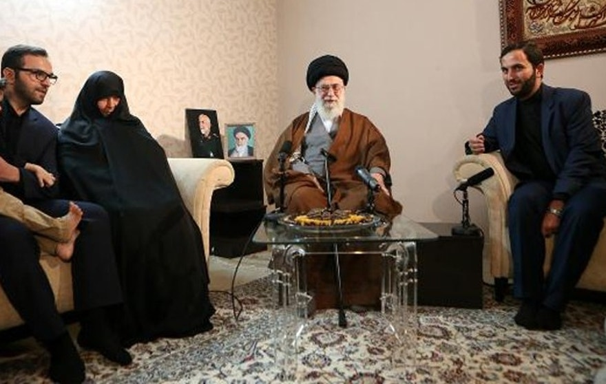 Iran's Supreme Leader, Ayatollah Khamenei, recently tweeted this picture of him meeting with the family of a key general killed in Syria.