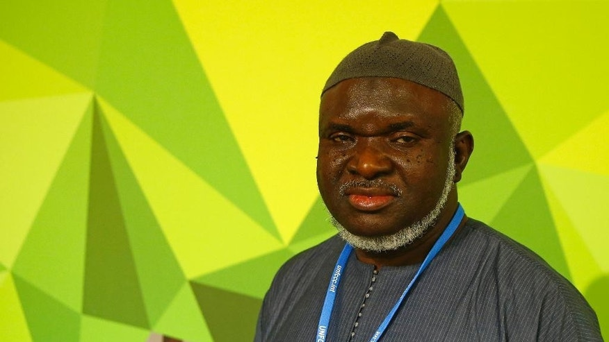 "Imam Ibrahim Saidy of Norway poses at the COP21, United Nations Climate Change Conference, in Le Bourget, outside Paris, Tuesday, Dec. 1, 2015. Saidy of Norway has declared a ""green jihad"" but is holy war action on climate change is mostly about seminars, symposiums and fasting. Saida is one of more than 10,000 interfaith clergy worldwide who fast the first day of each month to call attention to the problem of global warming. (AP Photo/Francois Mori)"