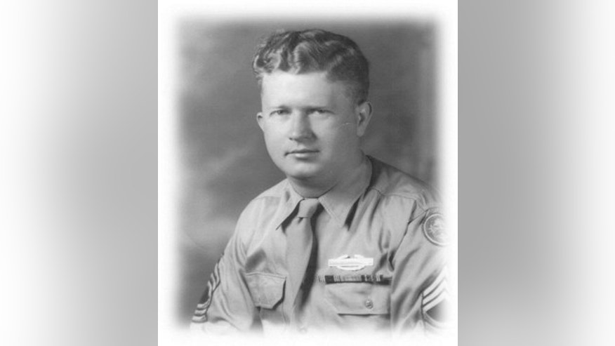 "This undated photograph released by the Yad Vashem Holocaust Memorial shows U. S. Army Master Sgt. Roddie Edmonds. Edmonds is being posthumously recognized as ""Righteous Among the Nations"", Israel's highest honor for non-Jews who risked their lives to save Jews during World War II. He's the first American serviceman to earn the honor. (Courtesy of Yad Vashem via AP)"