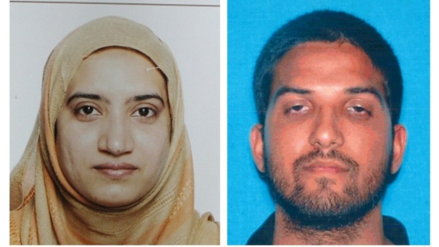Tashfeen Malik and Syed Farook in undated photos provided by the FBI.