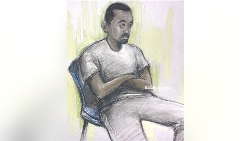 Muhaydin Mire in a London courtroom.