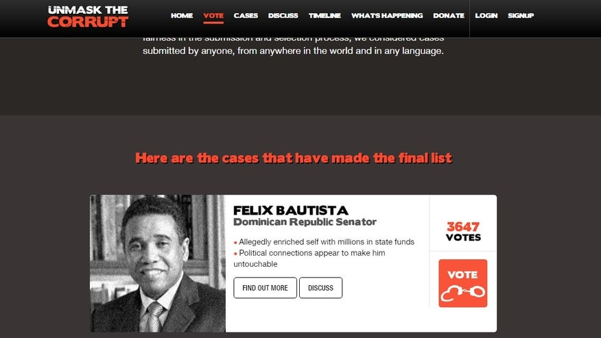 Case of Dominican senator voted worst corruption case in the world