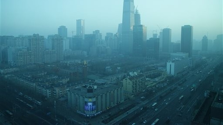 Beijing's central business district Thursday.