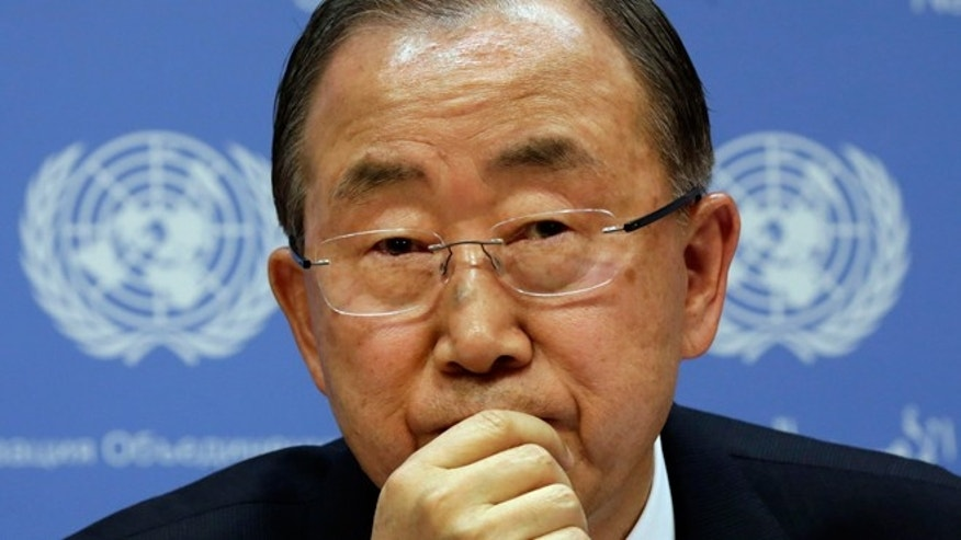 United Nations Secretary-General Ban Ki-moon is shown.