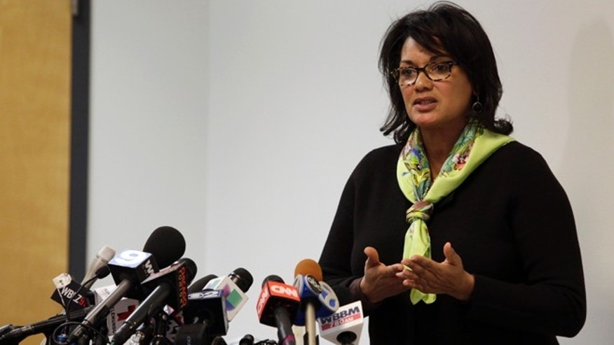 Sharon Fairley, acting head of the Independent Police Review Authority, speaks at a news conference, Monday, Jan. 4, 2016, in Chicago. The head of a city watchdog that investigates Chicago police shootings pledged greater transparency as the agency does its work, while at the time Monday a federal judge blasted the citys legal arm for trying to conceal evidence in one police shooting. (AP Photo/Teresa Crawford)