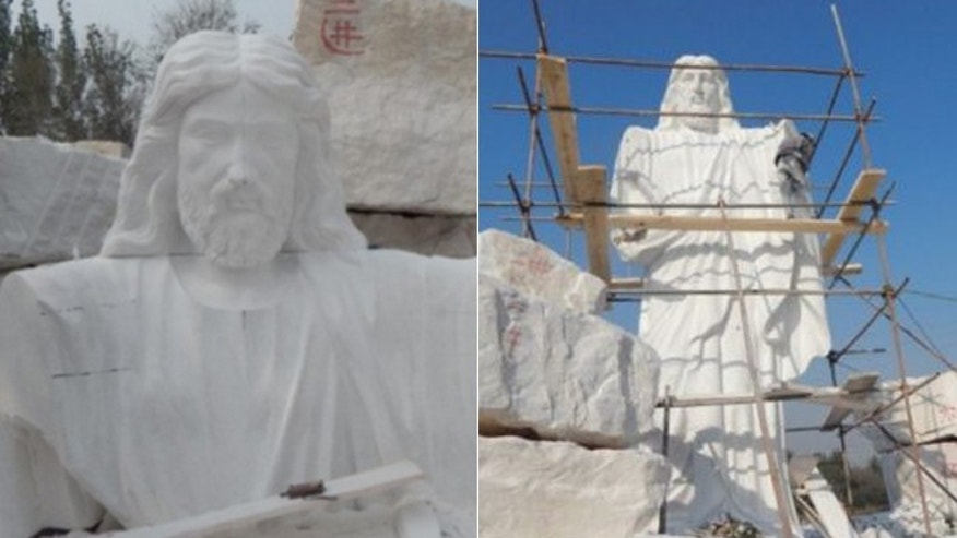 The statue is believed to be the tallest of Jesus on the continent of Africa, and was unveiled on New Year's Day. (ChristianHeadlines.com; Twitter)