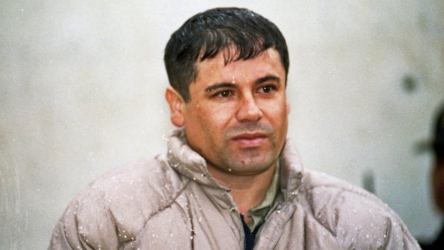 "June 10, 1993: In this file photo, Joaquín Guzmán Loera, alias  ""El Chapo Guzmán"" is shown to the press after his arrest at the high security prison of Almoloya de Juárez, outskirts of Mexico City."