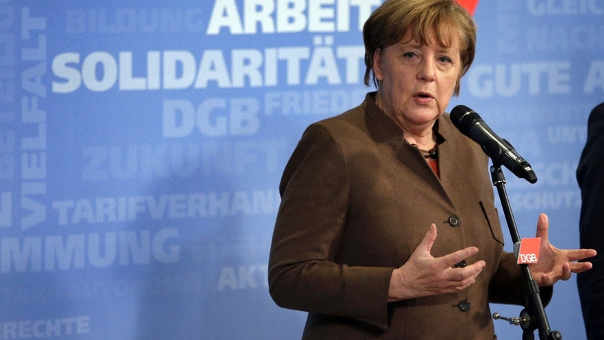 German Chancellor Angela Merkel on Thursday.